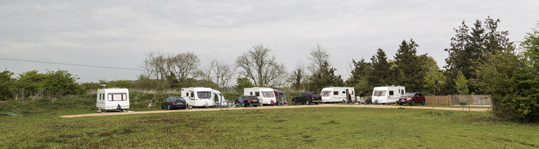 5 caravans on The Plough Pitch
